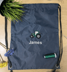 Personalised Tractor Drawstring PE swim bag
